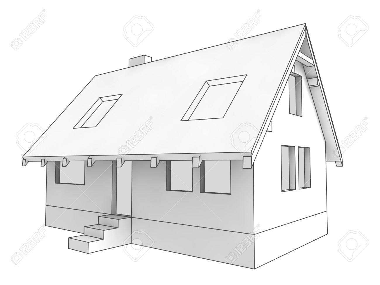 hight resolution of isolated diagram icon of new private house project illustration rh 123rf com diagram of house heating