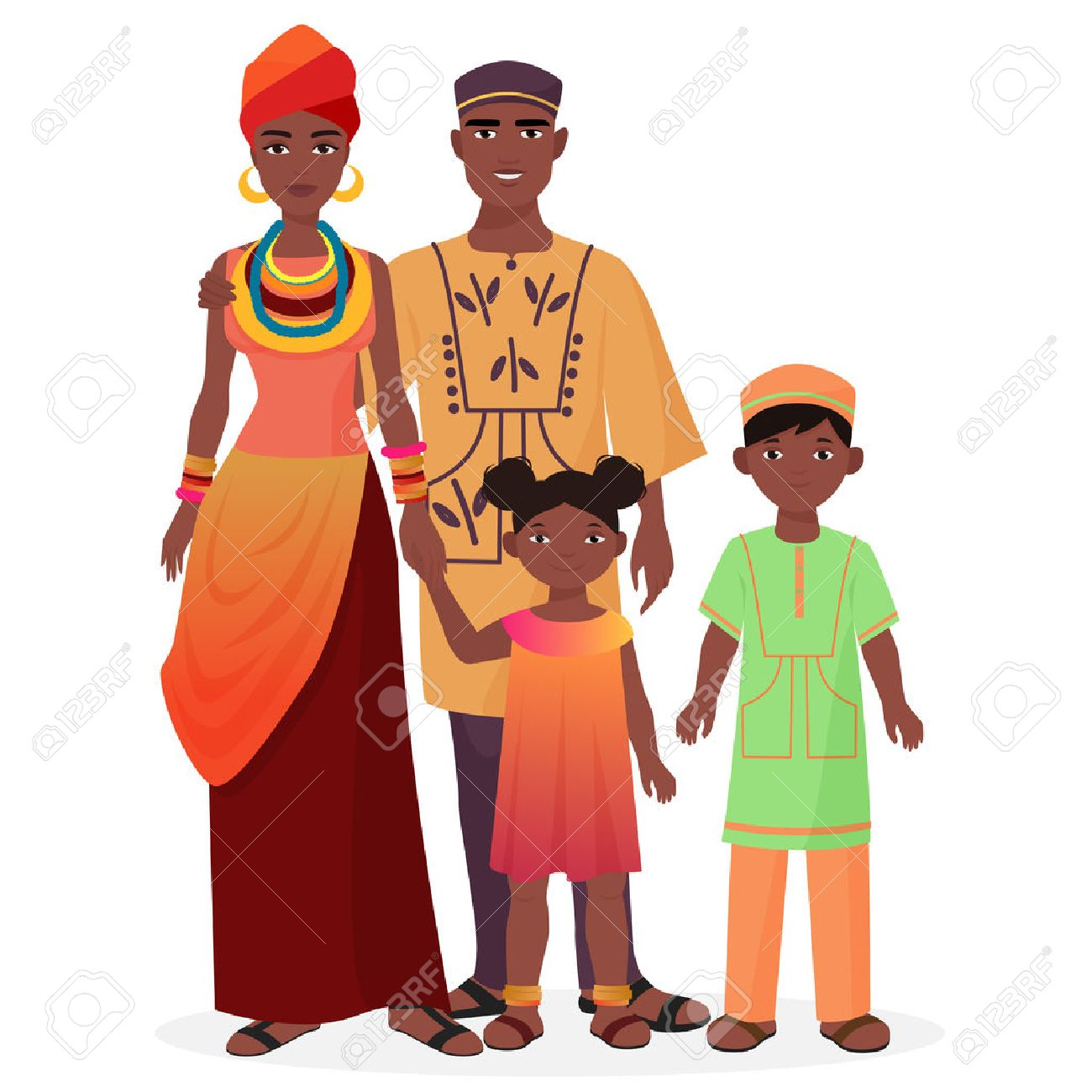 hight resolution of 112 african american family fun cliparts stock vector and royalty