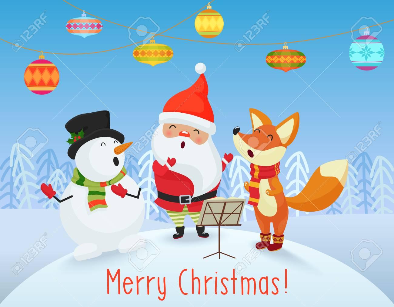 vector happy christmas card