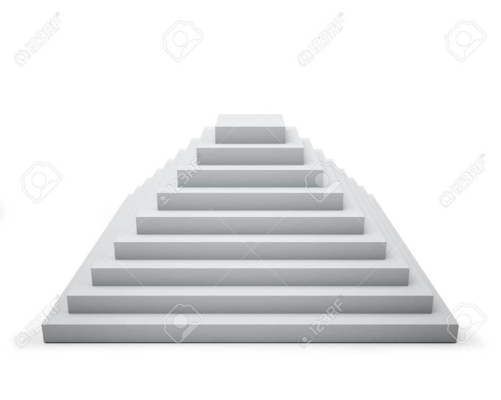 medium resolution of 3d white step pyramid isolated on white background stock photo 19527454