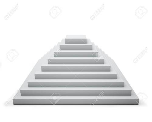 small resolution of 3d white step pyramid isolated on white background stock photo 19527454