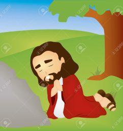 bible stories jesus praying in the garden stock vector 1998540 [ 1300 x 1283 Pixel ]