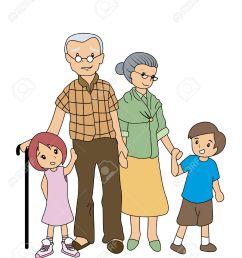 children with grandparents stock vector 2649533 [ 1080 x 1300 Pixel ]