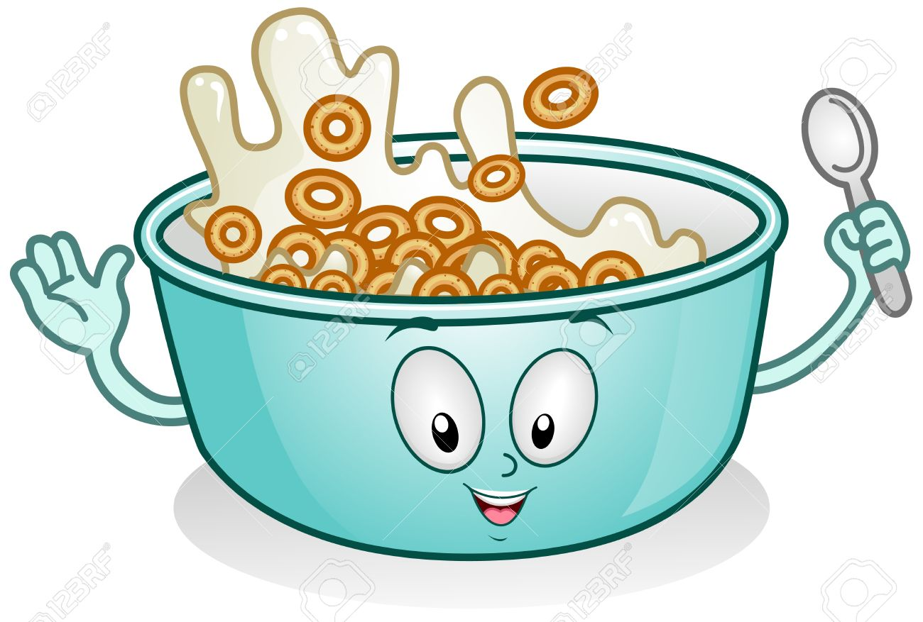 hight resolution of illustration illustration of a breakfast character with milk and cereal