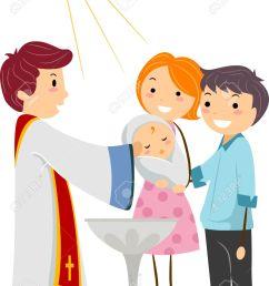 illustration illustration of a priest baptizing a child [ 993 x 1300 Pixel ]
