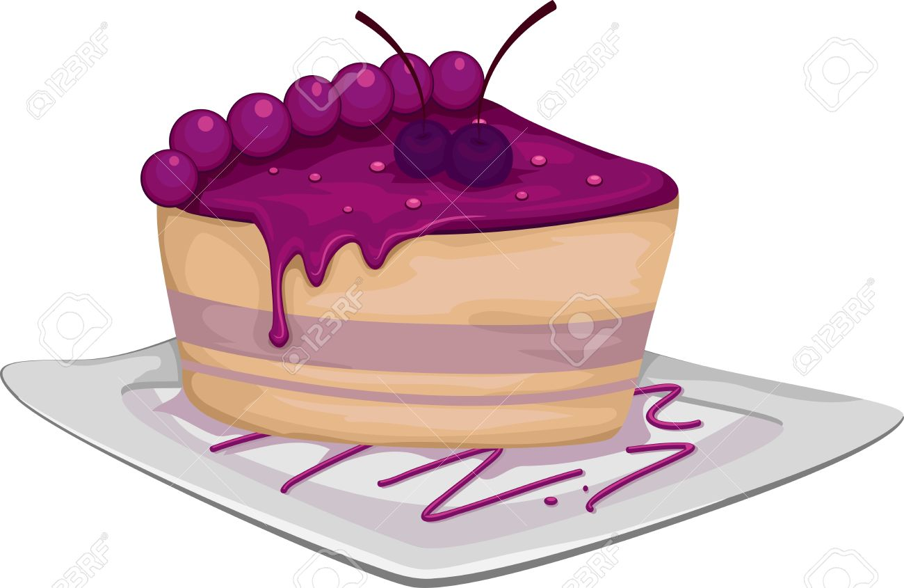 hight resolution of illustration illustration of a slice of blueberry cake