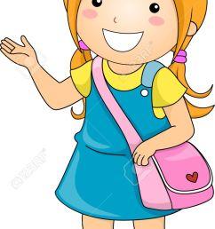illustration illustration of a student girl making some presentation [ 736 x 1300 Pixel ]