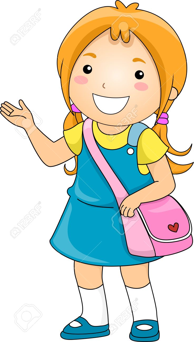 medium resolution of illustration illustration of a student girl making some presentation