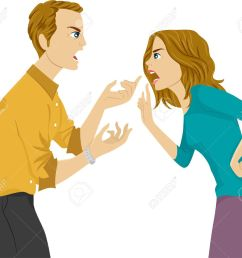 illustration of a husband and wife arguing stock vector 29571705 [ 1300 x 1119 Pixel ]