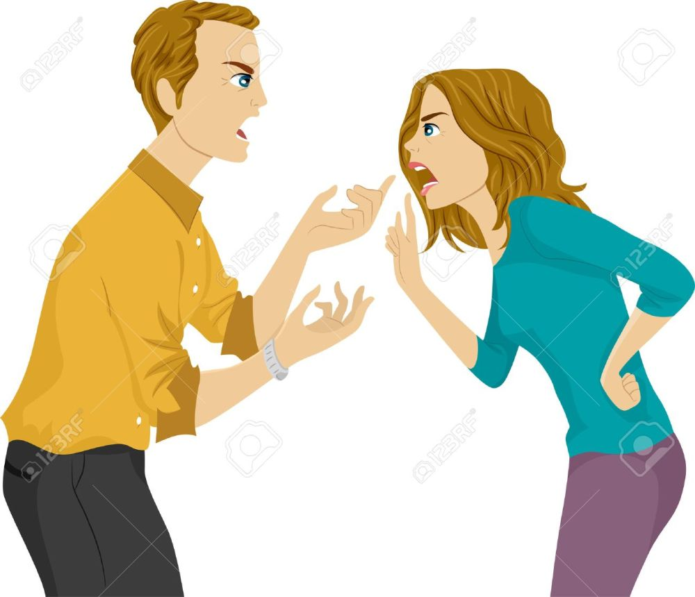 medium resolution of illustration of a husband and wife arguing stock vector 29571705