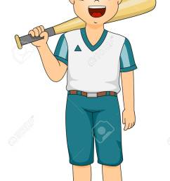 illustration of a boy dressed as a baseball batter stock vector 31123329 [ 784 x 1300 Pixel ]