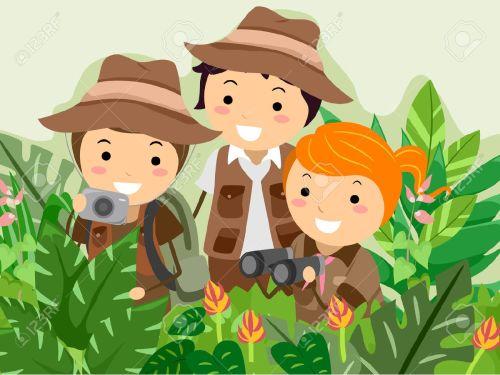 small resolution of illustration featuring kids on a safari adventure stock vector 31678323