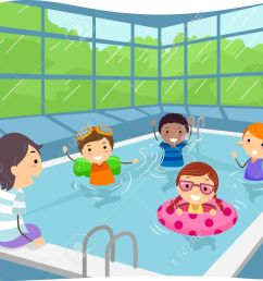 illustration of kids swimming in an indoor swimming pool stock vector 35170108 [ 1300 x 950 Pixel ]