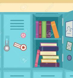 colorful illustration featuring an open school locker showing stacks of books stock illustration 83242354 [ 1300 x 1094 Pixel ]