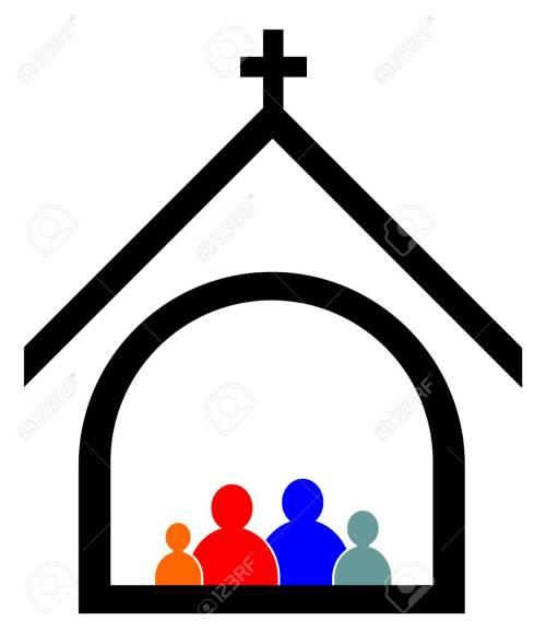 small resolution of church family concept vector eps 10 stock vector 93554885