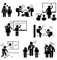school education social problem student teacher stick figure pictogram icon clipart stock vector 26999415 [ 1300 x 1300 Pixel ]