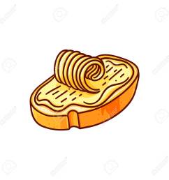 bread and butter hand drawn vector color illustration doodle breakfast clipart lunch snack  [ 1300 x 1300 Pixel ]