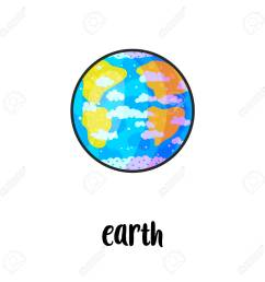 solar system planet hand drawn cartoon vector illustration doodle space clipart cartoon earth planet [ 1300 x 1300 Pixel ]