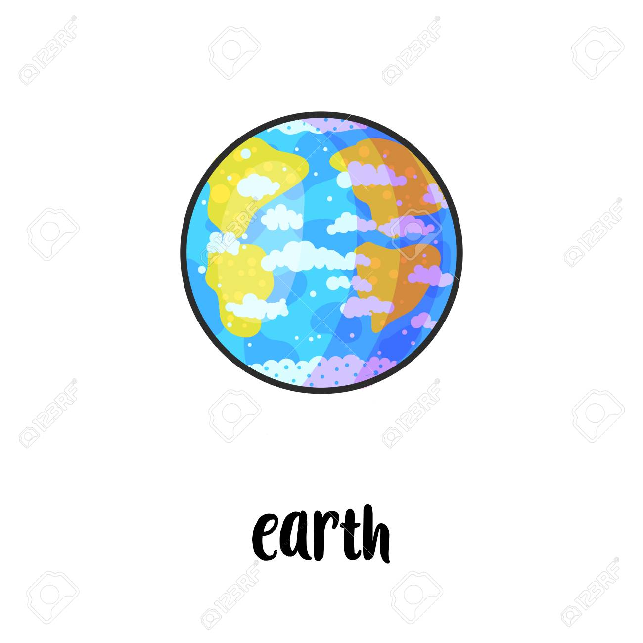 hight resolution of solar system planet hand drawn cartoon vector illustration doodle space clipart cartoon earth planet