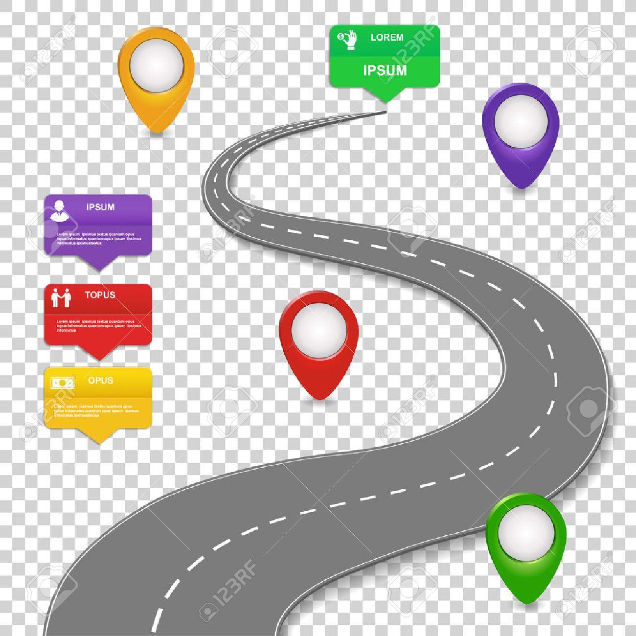 navigation infographics design concept