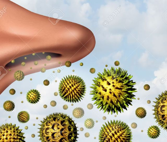 Illustration Pollen Allergy Concept And Hay Fever Allergies As A Medical Symbol As D Illustration Microscopic Organic Pollination Particles Flying In The