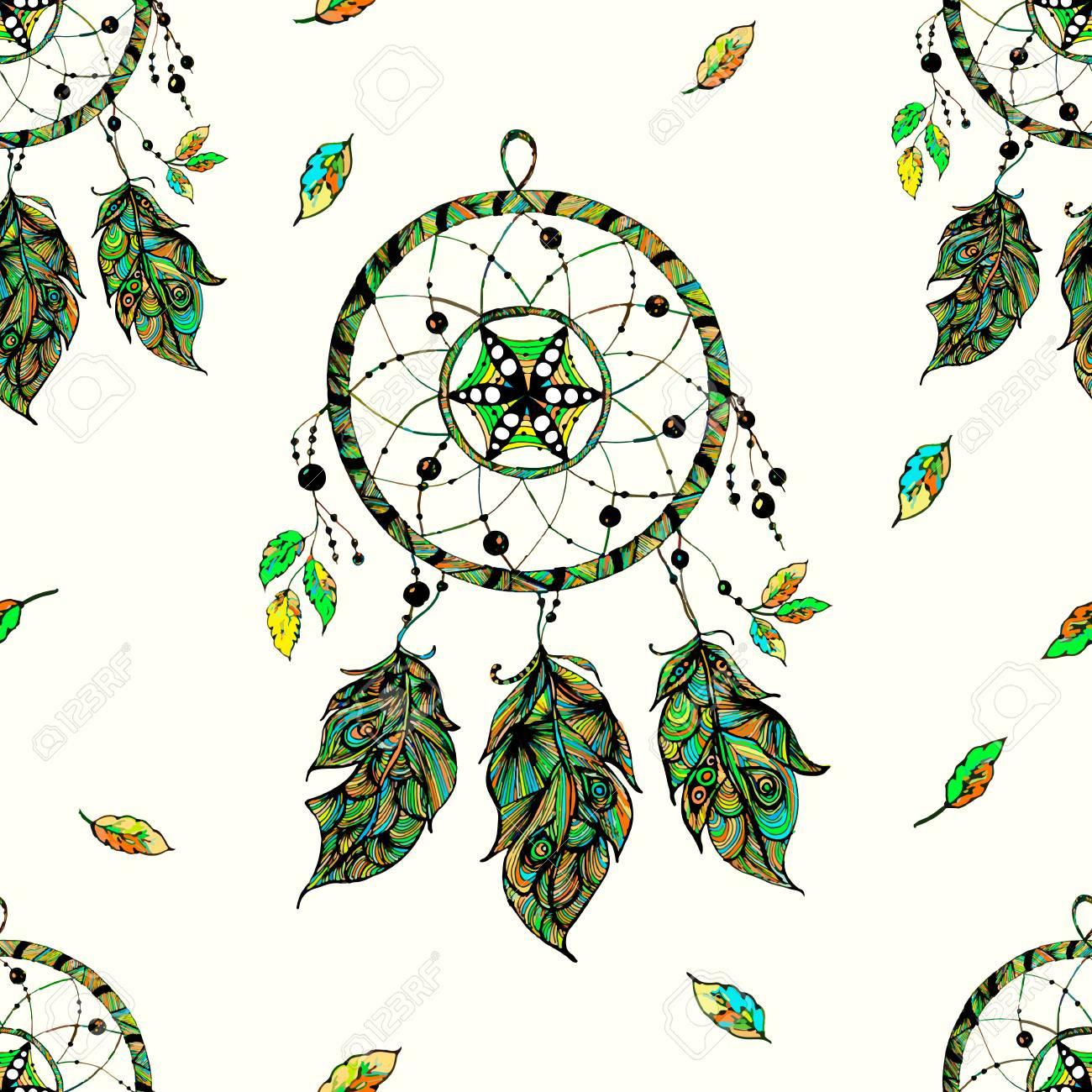 seamless pattern indian dream