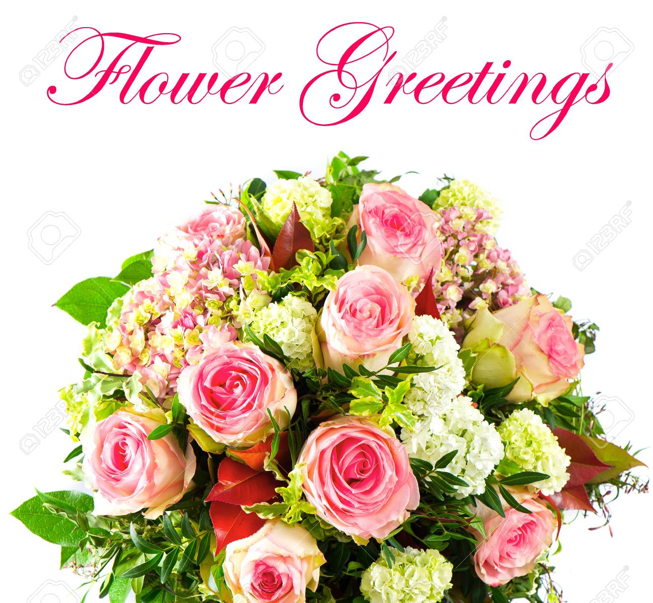 colorful flowers bouquet pink