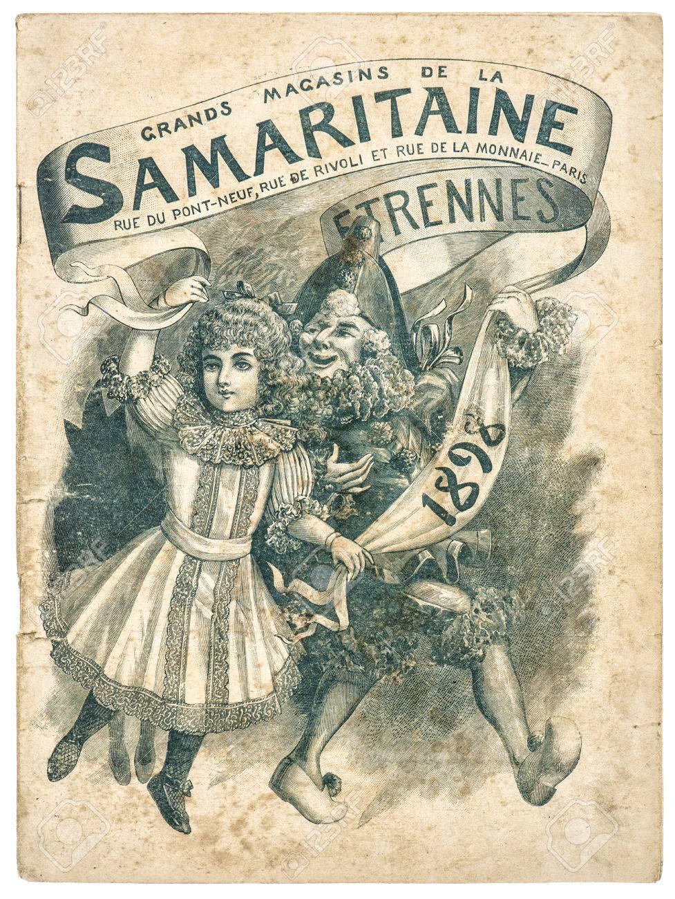 la publicite de magasin d antiquites couverture de catalogue de vente d origine de la samaritaine paris france vers 1898 banque d images et photos libres de droits image 29541690