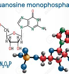 guanosine monophosphate gmp molecule it is an ester of phosphoric acid with the [ 1300 x 886 Pixel ]