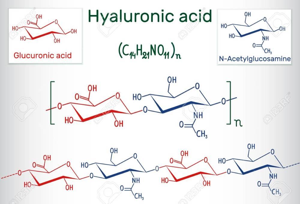 medium resolution of hyaluronic acid chemical formula stock vector 99833576