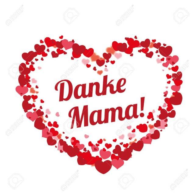 Vector German Text Danke Mama Translate Thank You Mom
