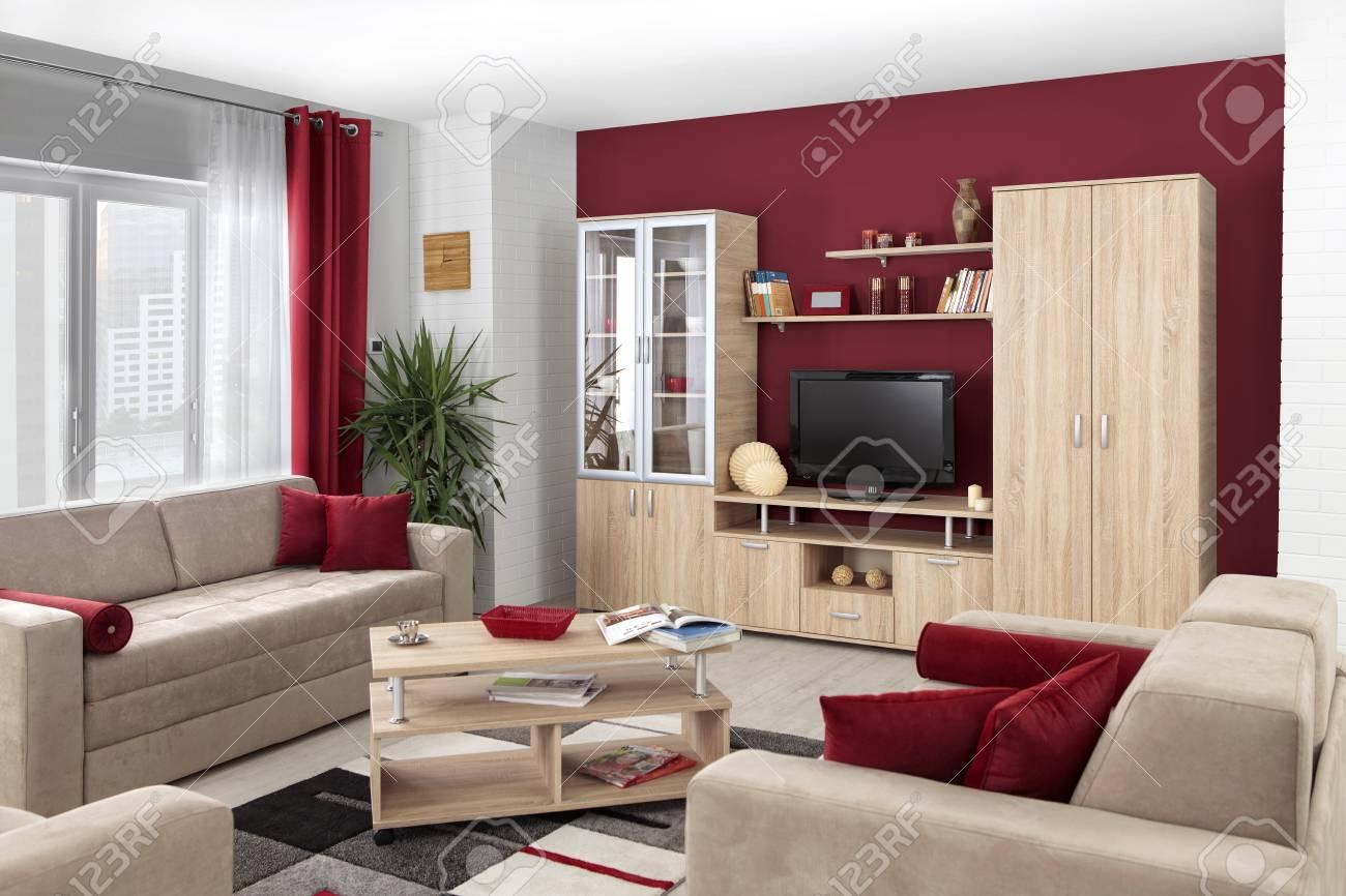interieur d un salon moderne de couleur banque d images et photos libres de droits image 52028842