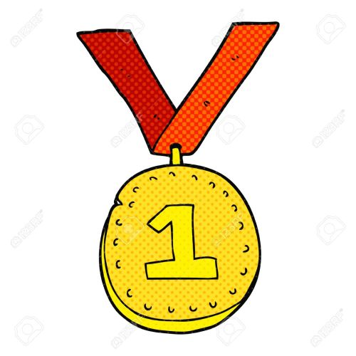small resolution of freehand drawn cartoon first place medal stock vector 53345333