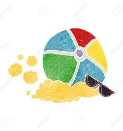freehand retro cartoon beach ball stock vector 53704984 [ 1300 x 1300 Pixel ]