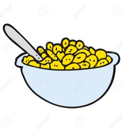 freehand drawn cartoon bowl of cereal stock vector 54066351 [ 1300 x 1300 Pixel ]