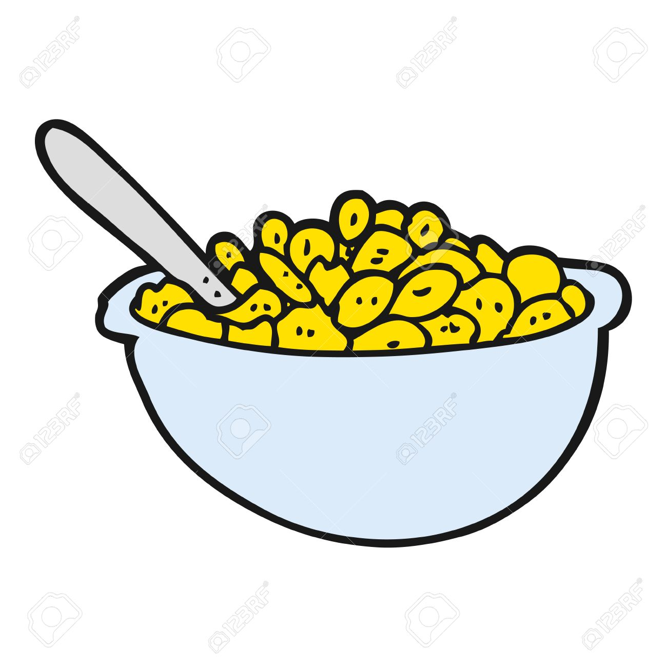 hight resolution of freehand drawn cartoon bowl of cereal stock vector 54066351