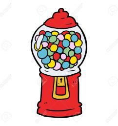 cartoon gumball machine stock vector 94618756 [ 1300 x 1300 Pixel ]