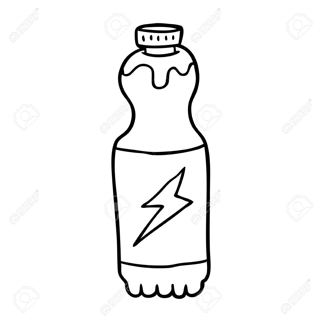 hight resolution of hand drawn soda bottle royalty free cliparts vectors and stock