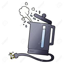 Cartoon Electric Kettle Boiling Royalty Free Cliparts Vectors And Stock Illustration Image 95141940