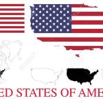 Usa Four Vector Maps Flag And Detailed North America Map Royalty Free Cliparts Vectors And Stock Illustration Image 37155884