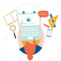 Education Online Training Courses Distance Education Flat Vector Royalty Free Cliparts Vectors And Stock Illustration Image 98113137
