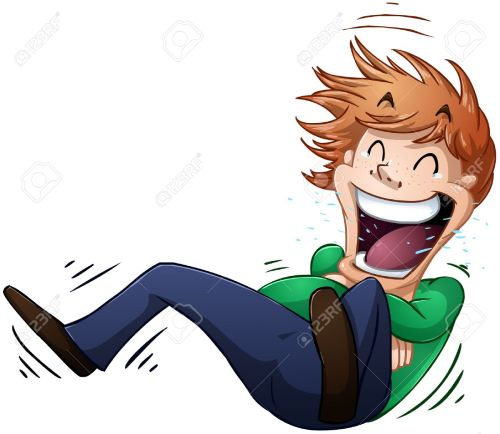 small resolution of a vector illustration of a guy rolling on the floor and laughing stock vector 24503533