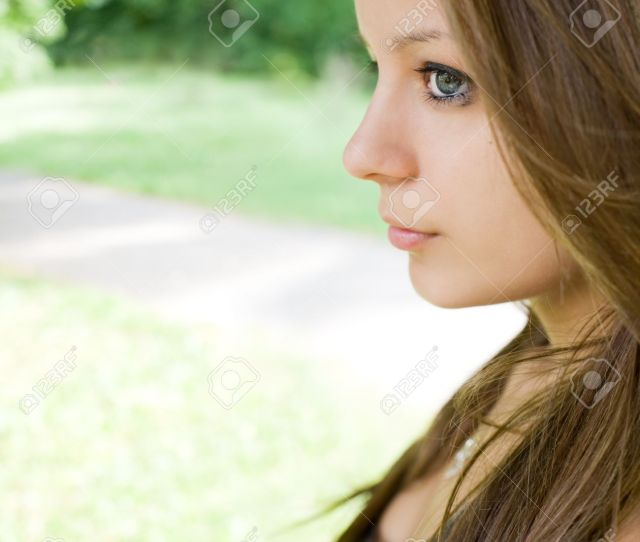 Profile Portrait Of Cute Young Teen Girl Wiuth Copy Space Stock Photo 9680611