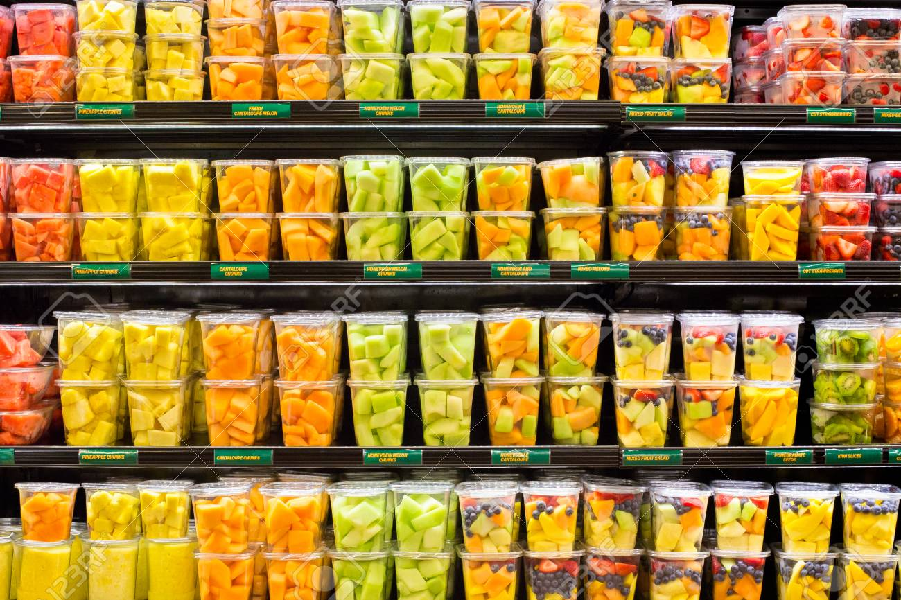 supermarket grocery display case