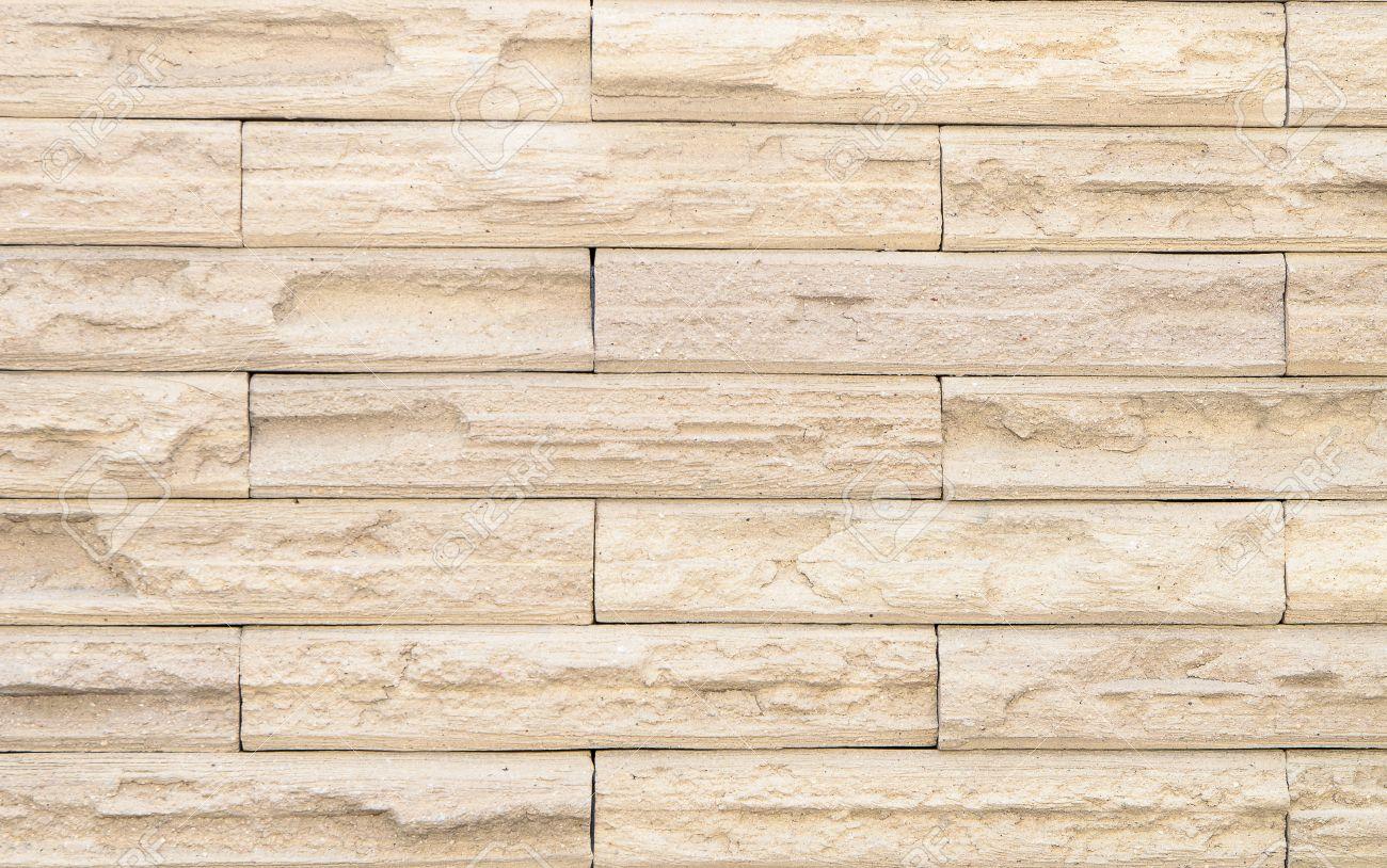 beige brick wall design