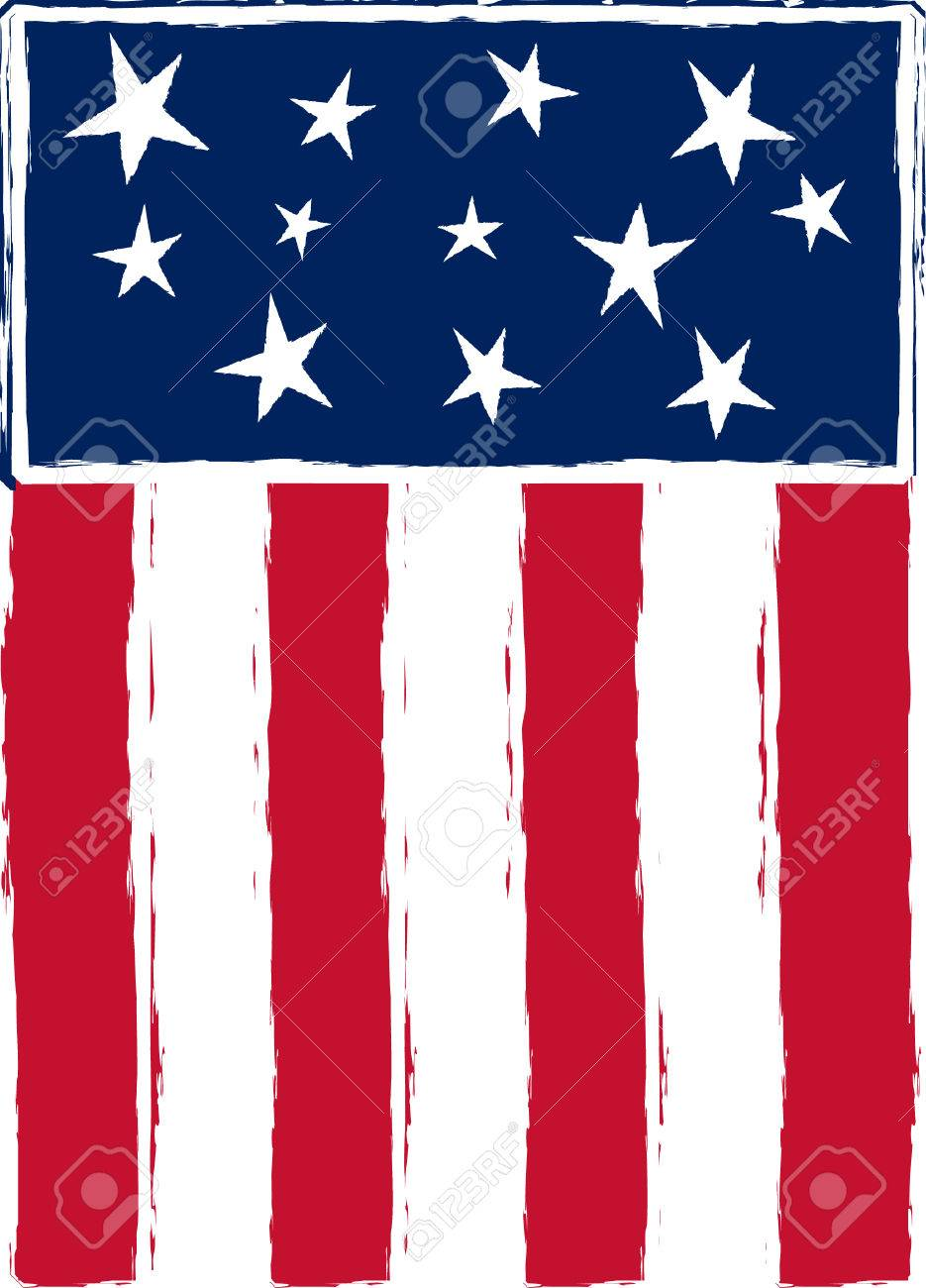 medium resolution of patriotic stylized american flag stock vector 3769919