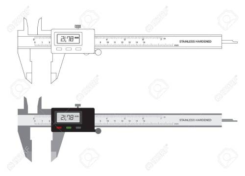 small resolution of vector vernier caliper digital tool isolated on white illustration