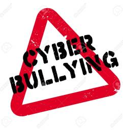 cyber bullying rubber stamp grunge design with dust scratches effects can be easily removed [ 1300 x 1300 Pixel ]