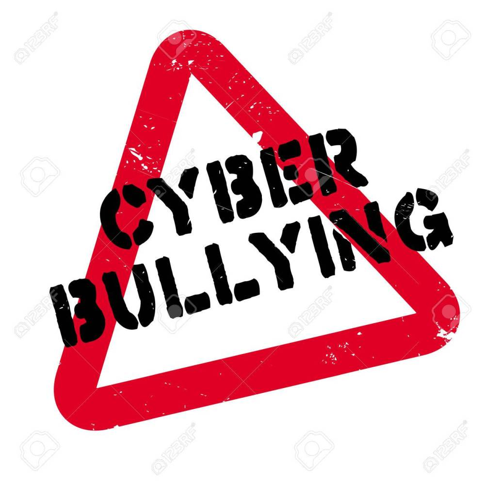 medium resolution of cyber bullying rubber stamp grunge design with dust scratches effects can be easily removed