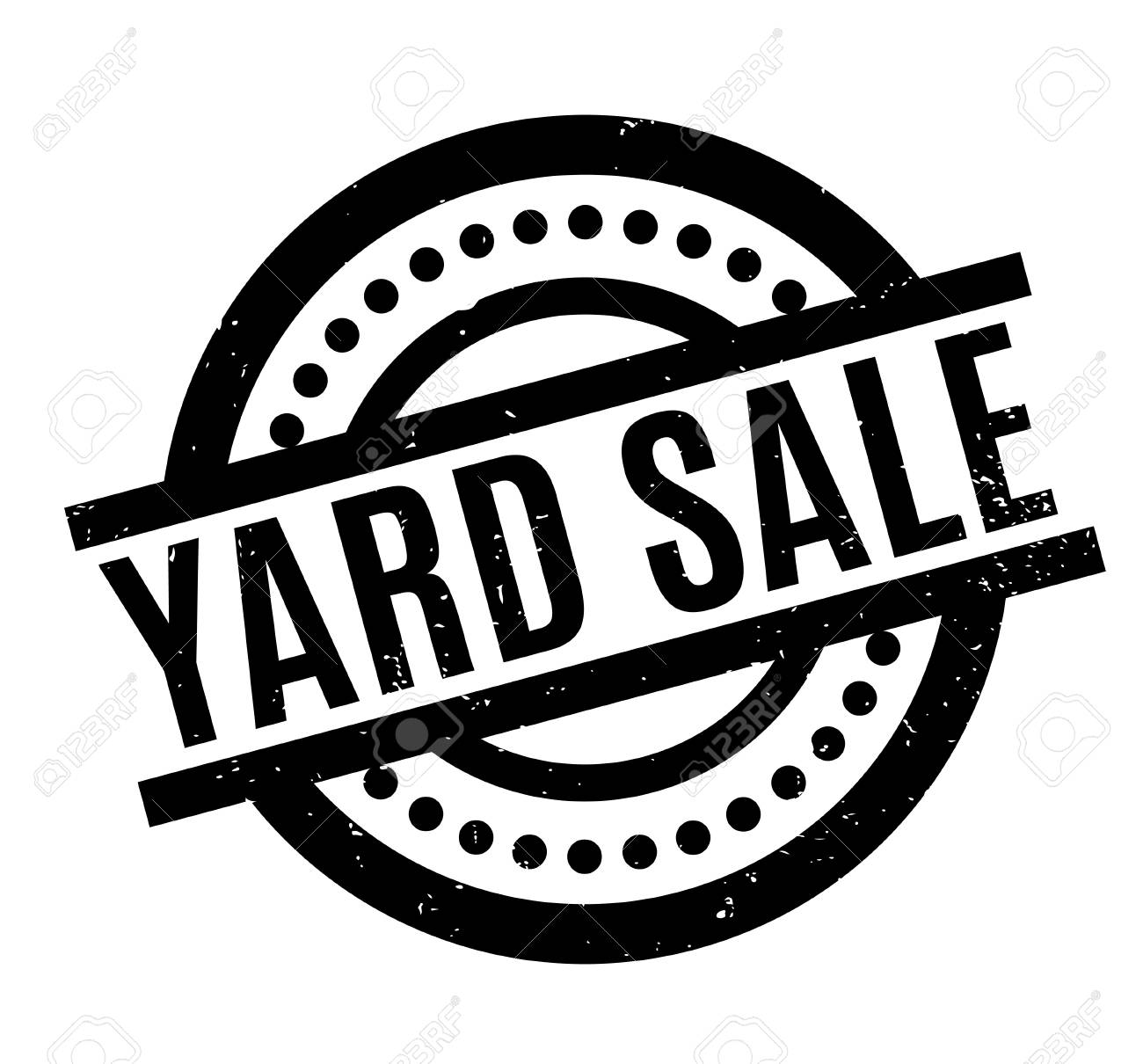 hight resolution of vector yard sale rubber stamp